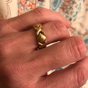 Jewelry - 💥 X & O Hugs & Kisses Link Ring 14k 3g